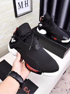 NEW Y3 Yohji Yamamoto Qasa High Leather Sneakers Men's Classic Black Trainers