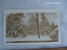 1910 Postcard Real Photo Type Snow Beautiful Snow Burlington VT Woods Trees View