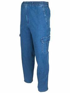 Herren Jeans Cargohose Schlupfjeans Strechjeans Schlupfhose M-5XL J03