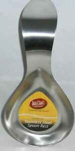 TableCraft  Commercial Quality STAINLESS STEEL SPOON REST