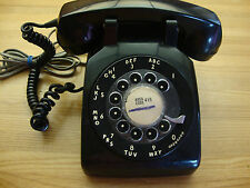 VINTAGE  NORTHERN ELECTIC BLACK ROTARY DESK TELEPHONE MADE IN CANADA