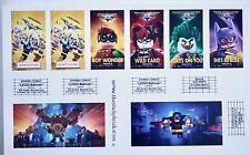 Stickers for LEGO Batman Movie 10232 Cinema Theater Modular building sticker