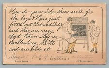 Smellenburg Suit Advertising—Jersey Shore PA Antique DA Bingman Clothing 1907