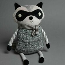 Jiggle & Giggle In The Woods Racoon Shaped Novelty Plush Cushion for Kids.