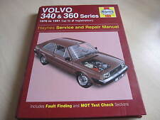 Haynes VOLVO MANUAL  340 & 360 series 1976 to 1991  to J Reg,ONE OWNER FROM NEW