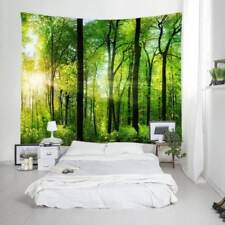 Sunshine Forest Tapestry Nature Tree Wall Hanging Bedspread Throw Room Decor