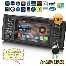 Navigatore BMW E39 Autoradio Android 8.0 E53 X5 M5 5er DAB+ GPS DVD OBD DTV 8839