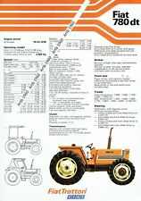 Fiat 780dt tractor 2 sided A4 leaflet /Brochure 1979?