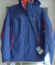 Columbia Womens M Interchange 3-in-1 Jacket Omni-Heat Hood Fleece Liner New