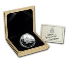 1989 Silver Maple Leaf Commerative 5 Dollar Proof  w/COA and Box