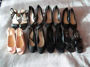 LADIES x8 HEELED SHOES BUNDLE - SIZE 5 - PAPAYA / NEW LOOK - GREAT CONDITION