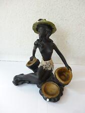 Gmundner? Cortendorf? Figur Weiblicher Akt Afrikanerin Frau Erotik Negerin 1950