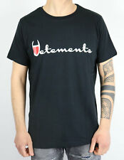 VETEMENTS t-shirt slim fit nera con stampa