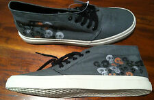 DRAVEN SHOES Muerto SKULLS Mid-Top Shallow GRAY Lace-up Mens 11 NEW MERCHANDISE