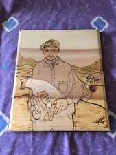 Wonderful 1984 Nicole Russell New Mexico Folk Art Wood Plaque