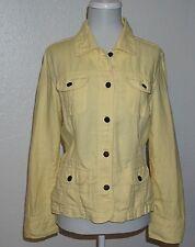 J.Jill Yellow 100% Linen  Basic Jacket Size Small S