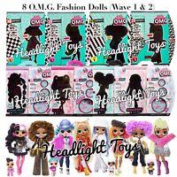 8 LOL Surprise Series 1 OMG Fashion Dolls Wave 1 & 2 Winter Disco Amazing Bigger