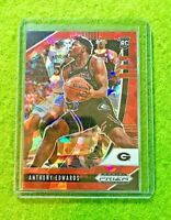ANTHONY EDWARDS RED ICE PRIZM ROOKIE CARD RC CRACKED ICE GEORGIA 2020 Basketball