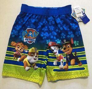 Nickelodeon Paw Patrol Boys swim trunks size 5T blue UPF 50+ new