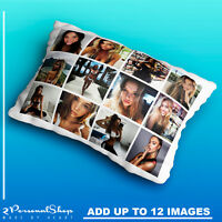 Personalised Photo Pillowcase Cushion Pillow Case Cover Custom Present Up to 12