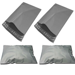 """500 BAGS - 17"""" x 24"""" STRONG POLY MAILING POSTAGE POSTAL QUALITY SELF SEAL GREY"""