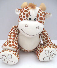 "Fiesta Paw Print Jungle Stuffed Animals Giraffe Plush A36909 10"" EUC Lovey Soft"