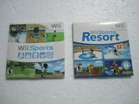Wii Sports & Wii Sports Resort Nintendo Video Games Sleeve Sealed New Unopened!