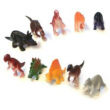 PACK OF 10 x PLASTIC DINOSAURS BOYS TOY PARTY BAG XMAS CHRISTMAS STOCKING FILLER