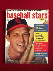 "1955, Stan Musial, ""Baseball Stars"" Magazine (No Label) Scarce (Cardinals)"