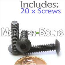 "#10-24 x 3/4"" - Qty 20 - BUTTON HEAD Socket Cap Screws - Alloy Steel Black Oxide"