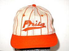 RARE Retro Vintage Phila Philadelphia Phillies MLB Baseball Cap Hat RAW BLUE JR