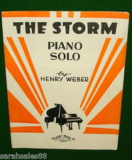 THE STORM, Piano Solo Sheet Music © 1935, Henry Weber, Very Good Cond'n. NO TAPE