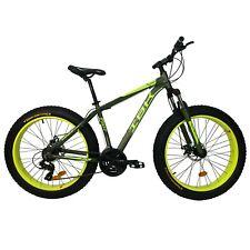 """Bici FAT BIKE 26"""" Bicicletta Adulto Alluminio Forcella Ammortizzata SHIMANO 21V"""