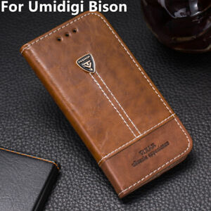 For Umidigi Bison Phone Case Leather Flip Wallet Stand Holder Back Cover 6.3''