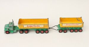 Matchbox Lesney King Size K16 Dodge Truck with Fruehauf Tippers