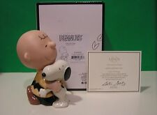 LENOX Peanuts LOTS OF HUGS SNOOPY and CHARLIE BROWN sculpture NEW n BOX With COA