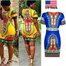 Plus Size Women Dress O-Neck Retro African Print Dashiki Lady Blouse Party Dress