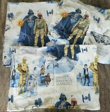 POTTERY BARN KIDS Star Wars FULL Sheets - Fitted Sheet Flat Sheet & Pillowcase