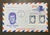 US UC38 FDC JFK May 29 1965 President John F Kennedy Boston MA Germany Berlin