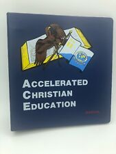 Accelerated Christian Education Manual School Of tomorrow Binder
