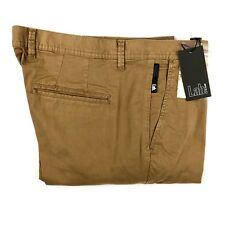 Pal Zileri Lab Mens Brown Skinny Slim Chino Khaki Pants Size 33