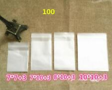 100pcs Cellophane Gift Bags Self Adhesive Cookie Candy Package Gift Bags Q