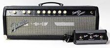 Fender Super-Sonic 60 - 60-watt Guitar Amplifier Tube Head w/ Footswitch - Black