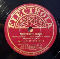 """Wilhelm Strienz - Dunkelrote Rosen - Electrola - /10"""" 78 RPM"""