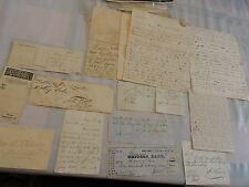 1850-1903 Letters New York City NYC Document 12 Item Lot Old Columbia Bicycle