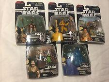 Lot of 5 Star Wars Saga Collection Phantom Menace incl Darth Maul New Unopened
