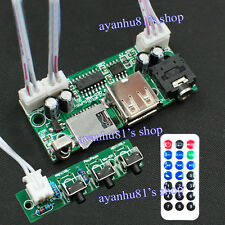 DC 5V-24V 12 V MP3 WAV Decoder Board USB TF Télécommande Audio décodage Module