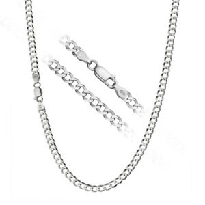 925 Sterling Silver Men's Italian 4mm Cuban Curb Link Chain Necklace ALL SIZES