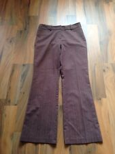 ladies size 12 principles brown stretch trousers