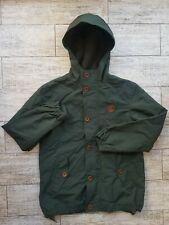 Fred Perry Green Fleece Lined Hooded Mountain Jacket Child Boys size L